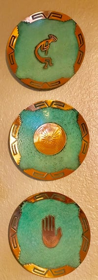 Six turquoise and copper plates Citrus Heights, 95621