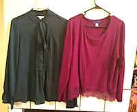 three red, black, and gray long sleeve shirts Peoria, 85345