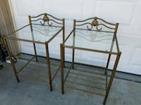 two brown wooden bed frames Wildomar