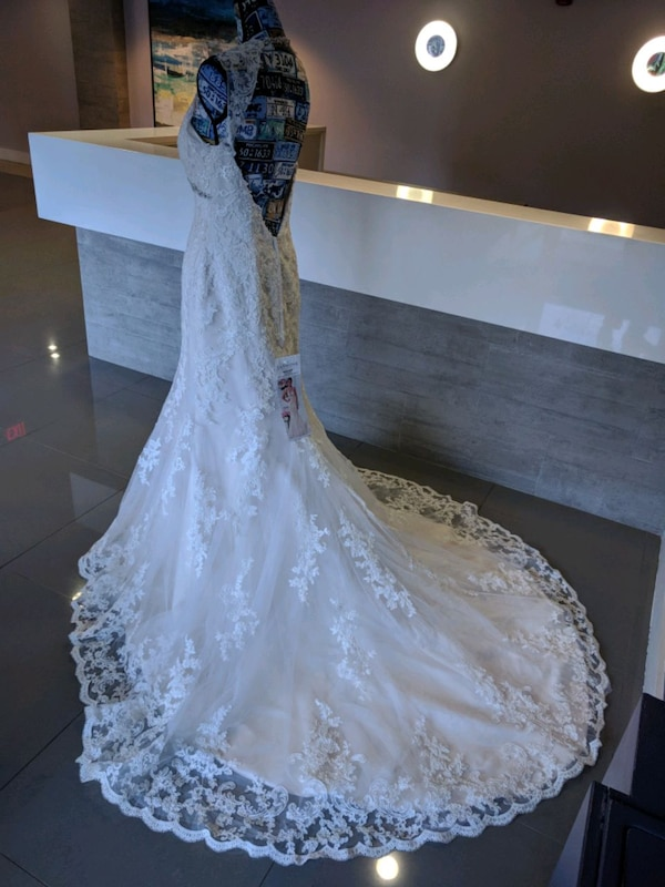 Jasmine Collection ivory gold wedding gown size 12 86affeac-3a99-4ad5-81fb-a4c8c87b2594