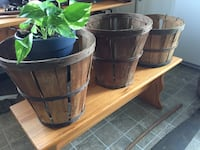 brown and black wooden plant bucket Frederick, 21701