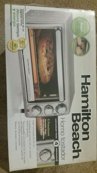 white and black Hamilton Beach toaster oven box Modesto, 95356