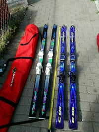 Down hill ski 2 set with bags