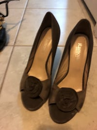 olive rose suede and leather 39 made in italy shoes Toronto