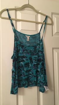 Forever 21 Green Tank Top Chantilly, 20152