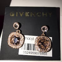 silver-colored and blue gemstone encrusted earrings Alhambra, 91803