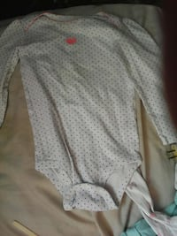 baby's white dotted long-sleeved onesie Halifax