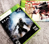 barely used - Halo 4 Xbox 360 Game + BioShock Infinite Game : Excellent Condition - ready for sale. Los Angeles