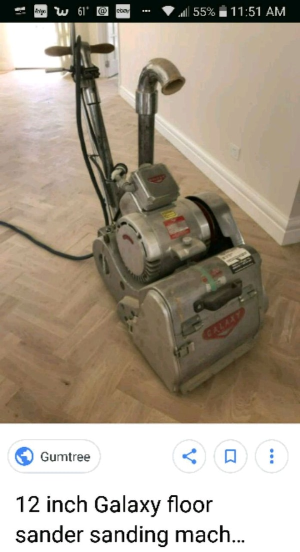 Used 12 Inch Galaxy Belt Floor Sander For Sale In Santa Cruz Letgo