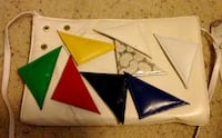 White purse interchangeable accents Calgary, T2C 4S6