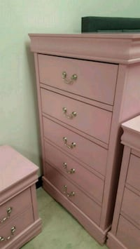 Brand New 5 Drawer Pink Wood Chest  Silver Spring, 20910