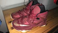 pair of red Nike basketball shoes Franklin, 02038