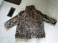 black and brown leopard print long sleeve dress Pearl River, 70452