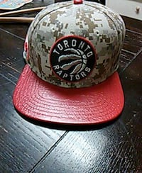 red and green Toronto Raptors fitted cap