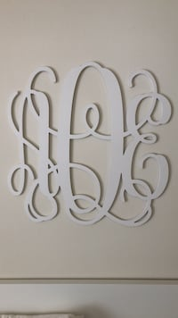 Monogram wall art Silver Spring, 20910