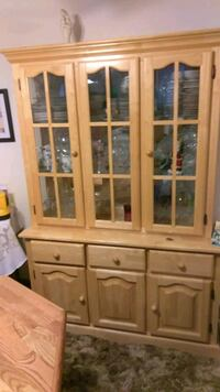 China Hutch. 2pieces. Solid Wood Lakewood