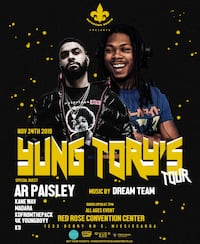 Yung Tory w Special Guest AR Paisley! Milton, L9T 2M3