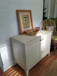 Turner Buffet White Faux Belgian Linen Rockville