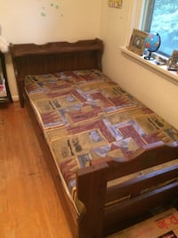 brown wooden bed frame with mattress London, N6G