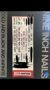 NIN Cold Black and Infinite Concert ticket Los Angeles, 90022