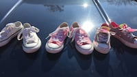 3 pair of youth 11 1/2 converse great condition , barely worn 965 mi