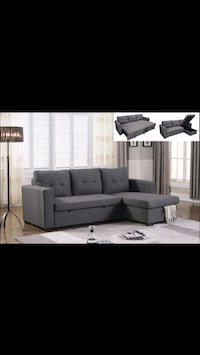 (••Fabric Sectional Sofa Bed With Storage Sale••) Mississauga