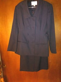 Navy double-breasted ladies suit