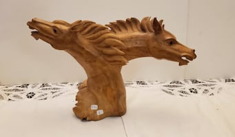 Wooden hand-carved HORSES
