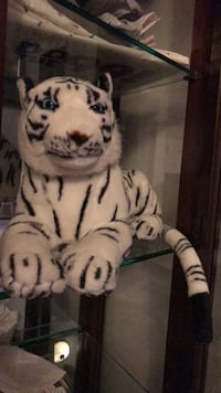 white and black tiger plush toy Stanton, 90680
