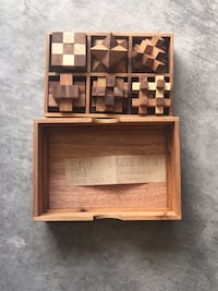 Kubiya 6  challenge puzzle set. Never played with. In nice wooden box. Paid $58.00 Albuquerque, 87120