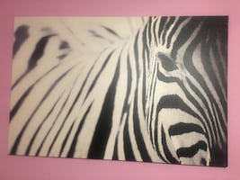 IKEA zebra canvas