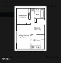 APT For rent 1BR 1BA Placentia