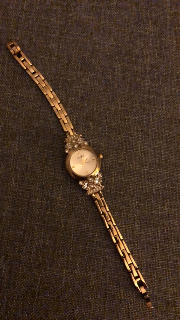 GUESS Women's Yellow Gold Watch