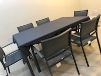 Patio Set bought in Sep, not used packed condition  Surrey, V3W 7Z2