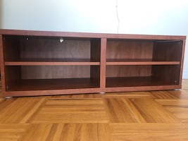 Ikea - brown wooden television rack