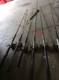 Assorted fishing rods and Reels price not negotiable