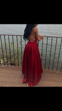 Red, Silky Prom Dress Toronto, M5G