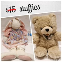 Plush toys | was $15 and now $12 Ajax, L1T