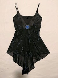 Blue and black sparkly top size small $8 Calgary, T2E 0B4