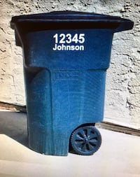Trash Can Numbers Virginia Beach, 23454
