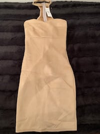 Fashion Nova Nude Suede Dress (size: S) Toronto, M6N 3X1