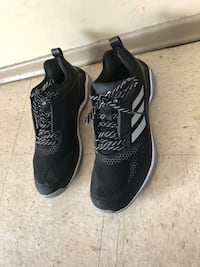 Pair of black adidas  running shoes size 12