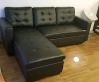 black leather sectional couch with ottoman Montréal, H2P 2X6