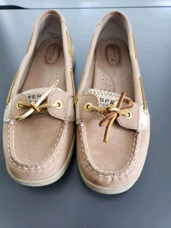 Sperry Angelfish Gold Glitter Boat Shoes