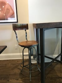 brown wooden bar stools ( 2 available ) 250 for one or 450 for both   Toronto, M6P 1G7