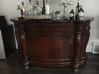 Solid wood bar with marble top and plenty of storage Niagara Falls, L2G 7T8
