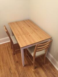 IKEA LERHAMN table and 2 chairs Toronto, M4S 2L3
