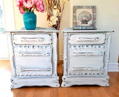 RUSTIC style 2 wood night stands