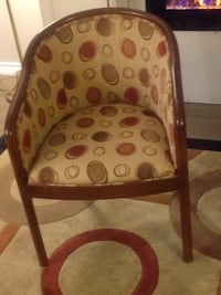 brown wooden framed brown padded armchair Hamilton, L8E 3M6