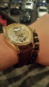 Ice out fully automatic luxury watch n bracelet